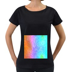 Abstract Color Pattern Textures Colouring Women s Loose Fit T Shirt (black)