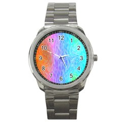 Abstract Color Pattern Textures Colouring Sport Metal Watch