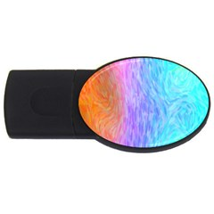 Abstract Color Pattern Textures Colouring USB Flash Drive Oval (4 GB)