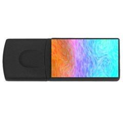 Abstract Color Pattern Textures Colouring Usb Flash Drive Rectangular (4 Gb)