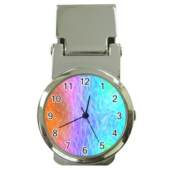 Abstract Color Pattern Textures Colouring Money Clip Watches