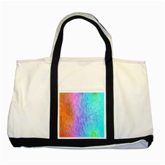 Abstract Color Pattern Textures Colouring Two Tone Tote Bag