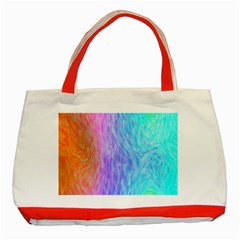 Abstract Color Pattern Textures Colouring Classic Tote Bag (red)