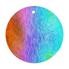 Abstract Color Pattern Textures Colouring Round Ornament (Two Sides)