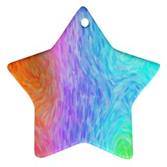 Abstract Color Pattern Textures Colouring Star Ornament (two Sides)