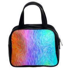 Abstract Color Pattern Textures Colouring Classic Handbags (2 Sides)