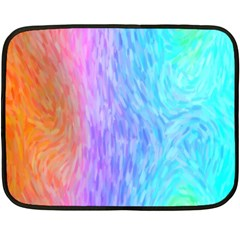 Abstract Color Pattern Textures Colouring Double Sided Fleece Blanket (mini)