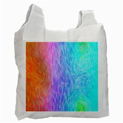 Abstract Color Pattern Textures Colouring Recycle Bag (one Side)