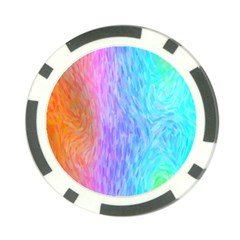 Abstract Color Pattern Textures Colouring Poker Chip Card Guard (10 Pack)