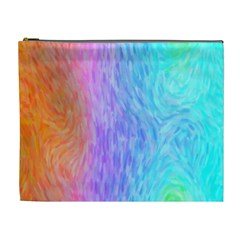 Abstract Color Pattern Textures Colouring Cosmetic Bag (XL)