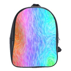 Abstract Color Pattern Textures Colouring School Bags(Large)