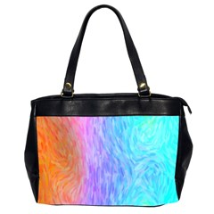 Abstract Color Pattern Textures Colouring Office Handbags (2 Sides)