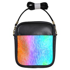 Abstract Color Pattern Textures Colouring Girls Sling Bags