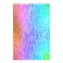 Abstract Color Pattern Textures Colouring Shower Curtain 48  X 72  (small)
