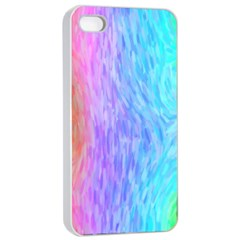 Abstract Color Pattern Textures Colouring Apple Iphone 4/4s Seamless Case (white)