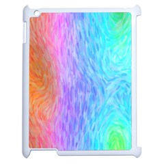 Abstract Color Pattern Textures Colouring Apple Ipad 2 Case (white)