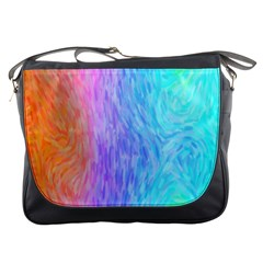 Abstract Color Pattern Textures Colouring Messenger Bags