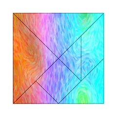 Abstract Color Pattern Textures Colouring Acrylic Tangram Puzzle (6  X 6 )