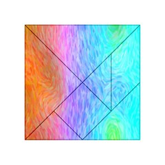 Abstract Color Pattern Textures Colouring Acrylic Tangram Puzzle (4  X 4 )