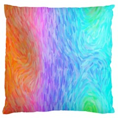 Abstract Color Pattern Textures Colouring Large Cushion Case (one Side)