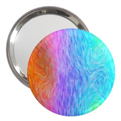 Abstract Color Pattern Textures Colouring 3  Handbag Mirrors