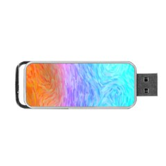 Abstract Color Pattern Textures Colouring Portable Usb Flash (two Sides)