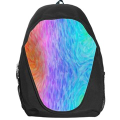 Abstract Color Pattern Textures Colouring Backpack Bag