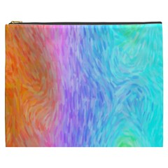 Abstract Color Pattern Textures Colouring Cosmetic Bag (xxxl)