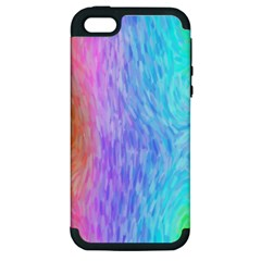 Abstract Color Pattern Textures Colouring Apple iPhone 5 Hardshell Case (PC+Silicone)