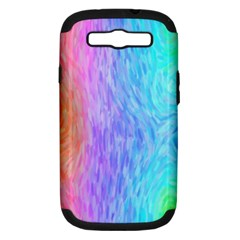 Abstract Color Pattern Textures Colouring Samsung Galaxy S Iii Hardshell Case (pc+silicone)