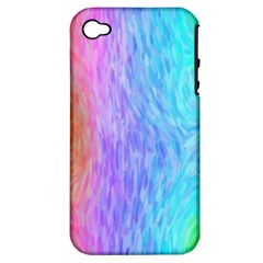 Abstract Color Pattern Textures Colouring Apple iPhone 4/4S Hardshell Case (PC+Silicone)