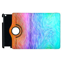 Abstract Color Pattern Textures Colouring Apple Ipad 2 Flip 360 Case