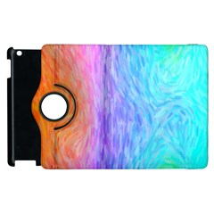 Abstract Color Pattern Textures Colouring Apple iPad 3/4 Flip 360 Case