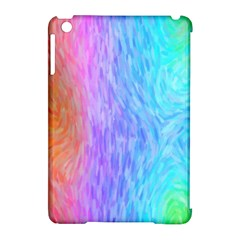 Abstract Color Pattern Textures Colouring Apple iPad Mini Hardshell Case (Compatible with Smart Cover)