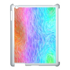 Abstract Color Pattern Textures Colouring Apple Ipad 3/4 Case (white)