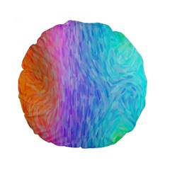 Abstract Color Pattern Textures Colouring Standard 15  Premium Round Cushions