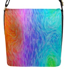 Abstract Color Pattern Textures Colouring Flap Messenger Bag (S)