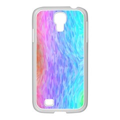 Abstract Color Pattern Textures Colouring Samsung GALAXY S4 I9500/ I9505 Case (White)