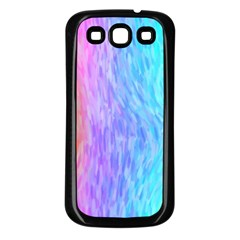 Abstract Color Pattern Textures Colouring Samsung Galaxy S3 Back Case (Black)