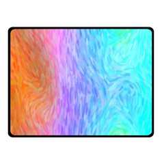 Abstract Color Pattern Textures Colouring Double Sided Fleece Blanket (Small)