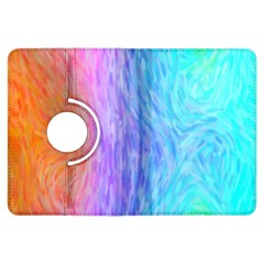 Abstract Color Pattern Textures Colouring Kindle Fire HDX Flip 360 Case