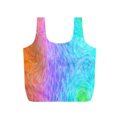 Abstract Color Pattern Textures Colouring Full Print Recycle Bags (s)