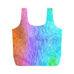 Abstract Color Pattern Textures Colouring Full Print Recycle Bags (m)