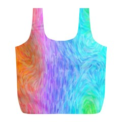 Abstract Color Pattern Textures Colouring Full Print Recycle Bags (L)