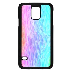 Abstract Color Pattern Textures Colouring Samsung Galaxy S5 Case (Black)