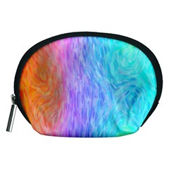 Abstract Color Pattern Textures Colouring Accessory Pouches (medium)