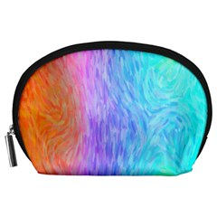 Abstract Color Pattern Textures Colouring Accessory Pouches (Large)