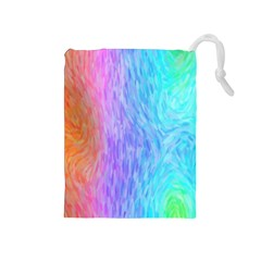 Abstract Color Pattern Textures Colouring Drawstring Pouches (medium)