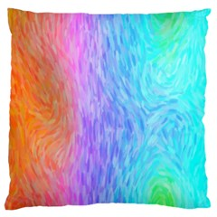 Abstract Color Pattern Textures Colouring Large Flano Cushion Case (One Side)