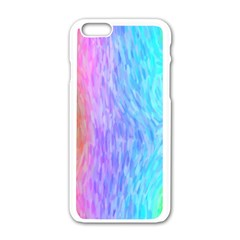 Abstract Color Pattern Textures Colouring Apple iPhone 6/6S White Enamel Case